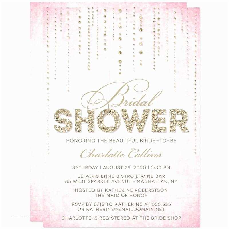 Gold Bridal Shower Invitations Lovely Bridal Shower Invitations Gold and Pink Ideas