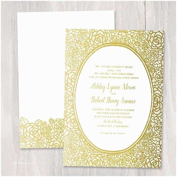 Gold Foil Wedding Invitations Gold Foil Wedding Invitation – Shop
