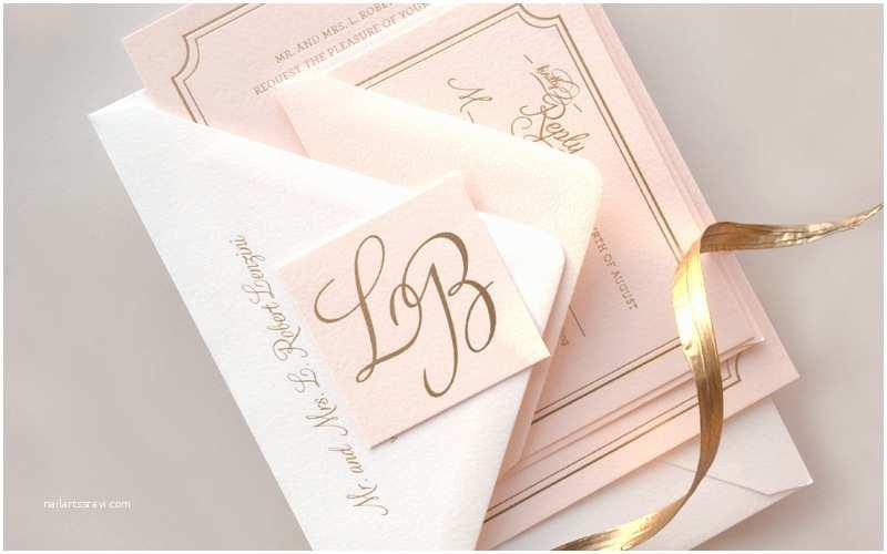 Gold Foil Wedding Invitations Lindsey Bradley S Elegant Pink and Gold Foil Wedding