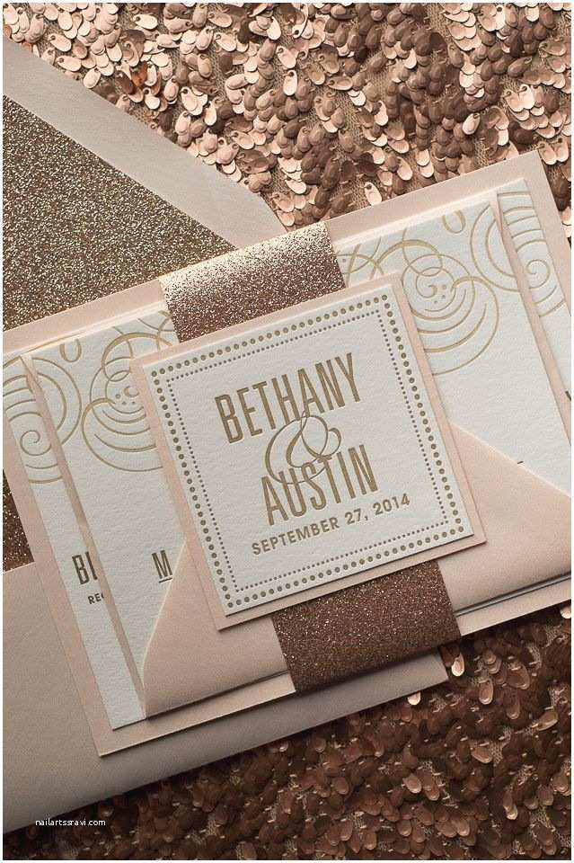 Gold Glitter Wedding Invitations 17 Best Images About Blush Rose Gold On Pinterest