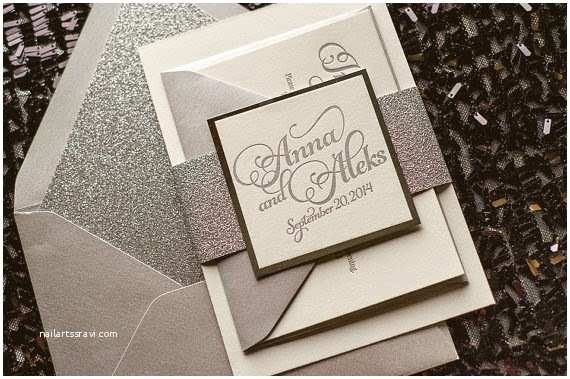 Gold Glitter Wedding Invitations 8 Glitter Glam & Rustic Wedding Invitations