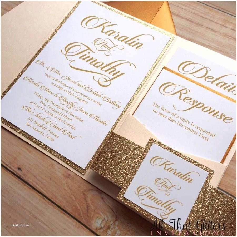 Gold Glitter Wedding Invitations Diy Rose Gold Glitter Wedding Invitations Gold