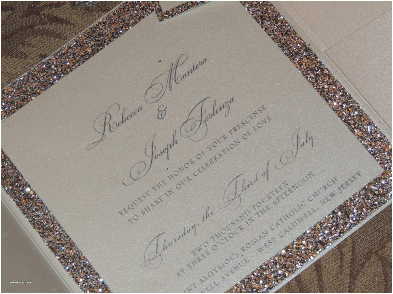 Gold Glitter Wedding Invitations Glitter Wedding Invitation Sparkle Wedding Invitation