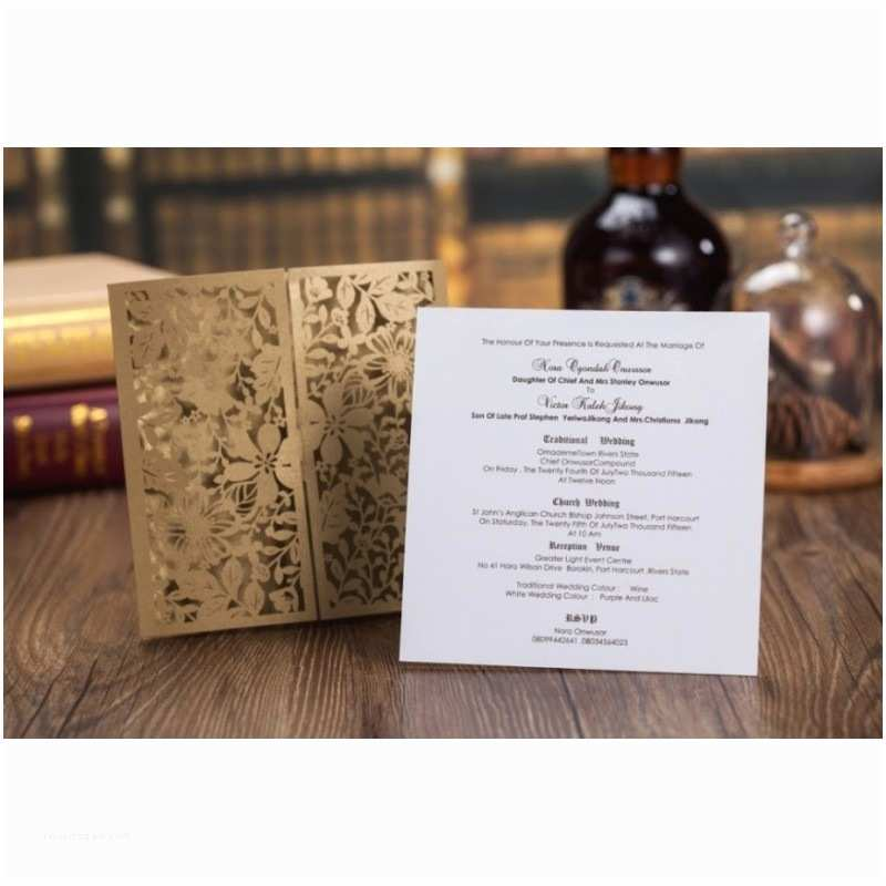 Gold Laser Cut Wedding Invitations Gold Lace Laser Cut Wedding Invitation