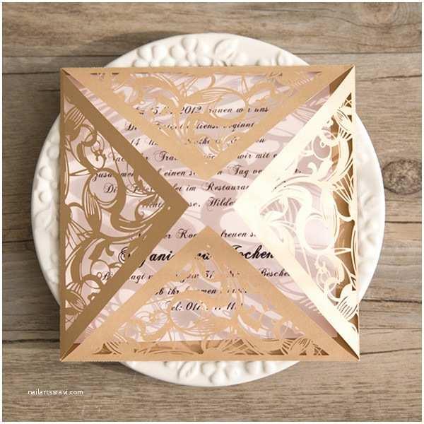 Gold Laser Cut Wedding Invitations Gold Laser Cut Pink Wedding Invitations Iwsm037 Wedding