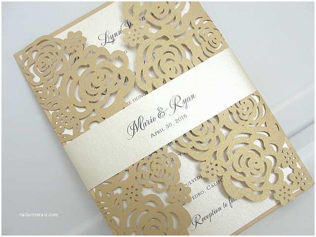 Gold Laser Cut Wedding S Laser Cut Roses Wedding