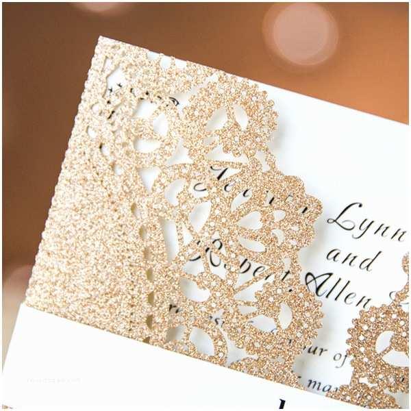 Gold Laser Cut Wedding  Luxurious Rose Gold Lace Laser Cut Wedding