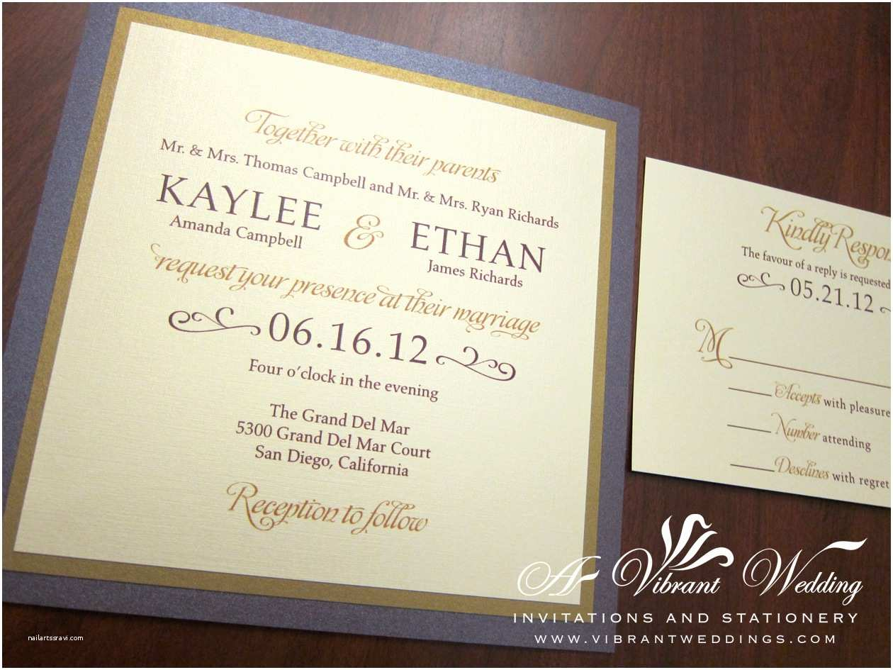 Gold Wedding Invitations February 2012 – A Vibrant Wedding