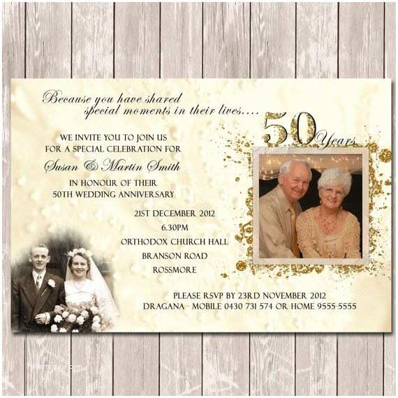 Golden Wedding Anniversary Invitations 25 Best Anniversary Invitations Ideas On Pinterest