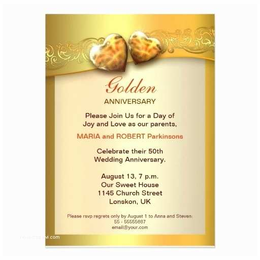 Golden Wedding Anniversary Invitations 27 Best Anniversary Invitations Images On Pinterest