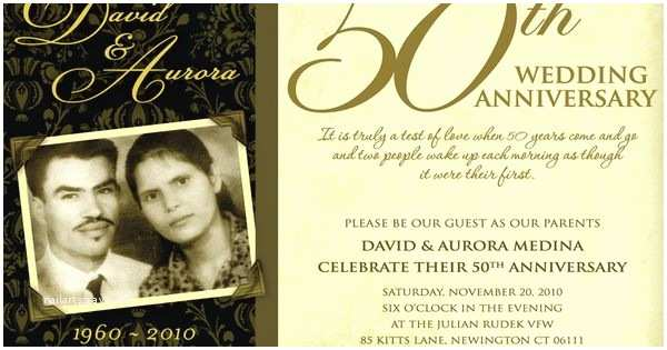Golden Wedding Anniversary Invitations 50th Wedding Anniversary Invitation Wording Ideas Wedding