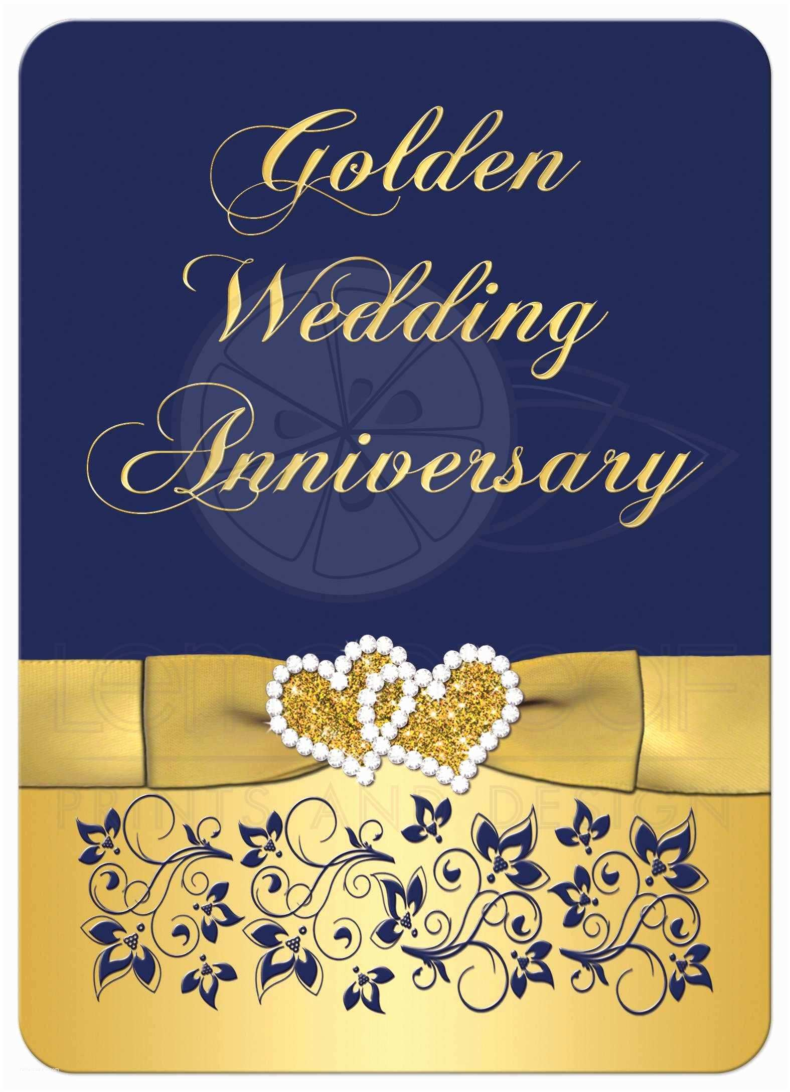 Golden Wedding Anniversary Invitations Golden Wedding Anniversary Invitation Golden Wedding