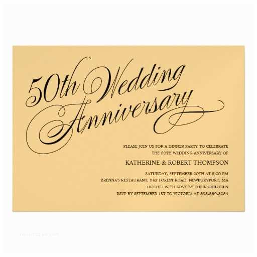 Golden Wedding Anniversary Invitations Golden Wedding Anniversary Invitations 13 Cm X 18 Cm