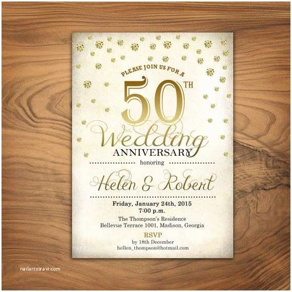 Golden Wedding Anniversary Invitations the 25 Best 50th Wedding Anniversary Invitations Ideas On