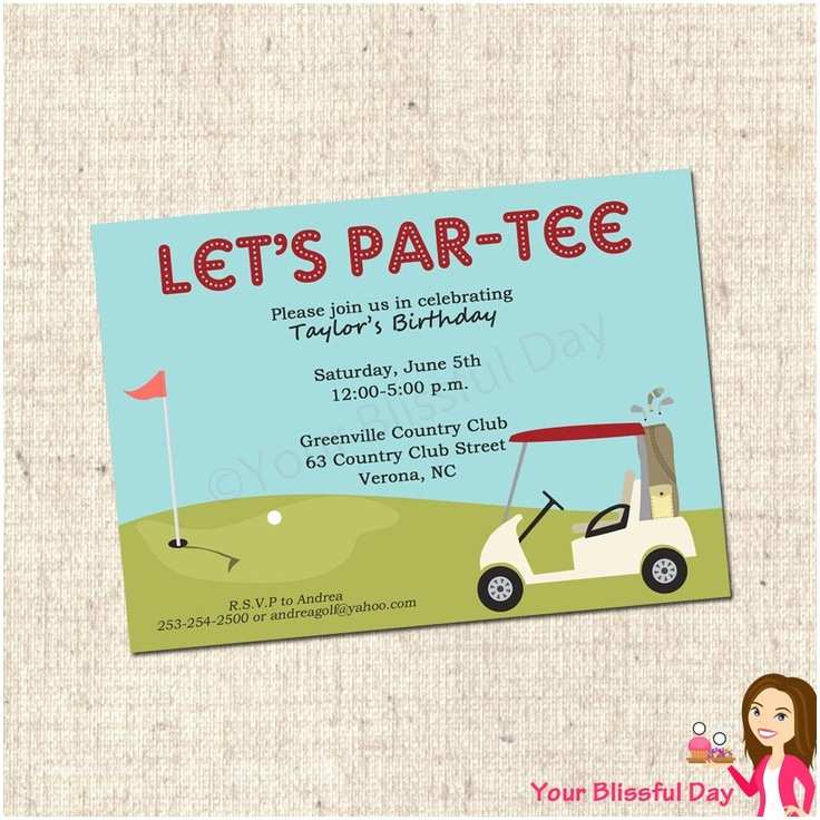 Golf Party Invitation 12 Best Outing Invitations Images On Pinterest