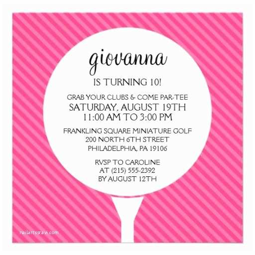 Golf Party Invitation 16 Best Mini Golf Birthday Invitations Images On Pinterest