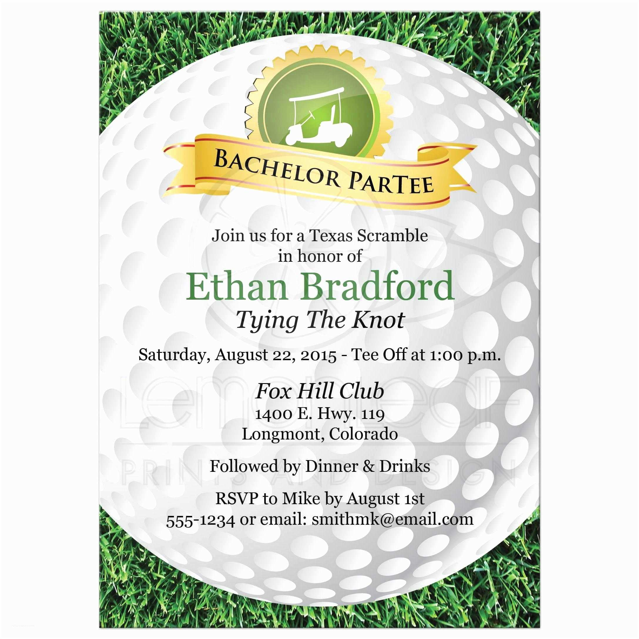 Golf Party Invitation Bachelor Party Invitation Golf Golfing theme