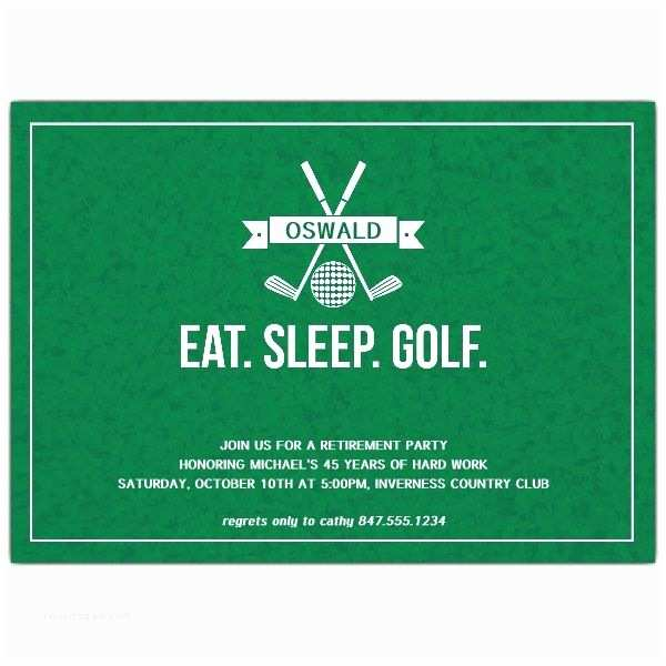 Golf Party Invitation Eat Sleep Golf Retirement Party Invitations