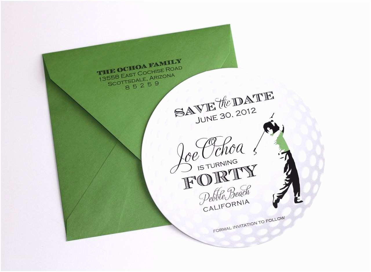 Golf Party Invitation Embellished Paperie 40th Birthday Golf themed Invitations
