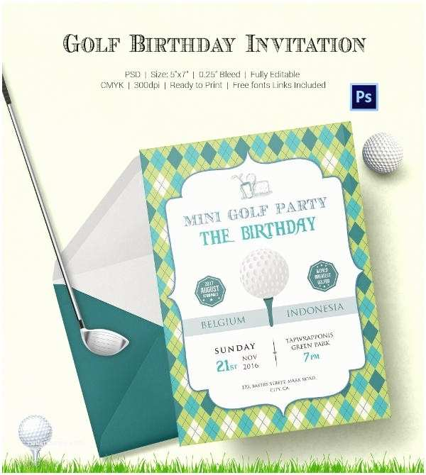 Golf Party Invitation Golf Birthday Invitations Template Resume Builder