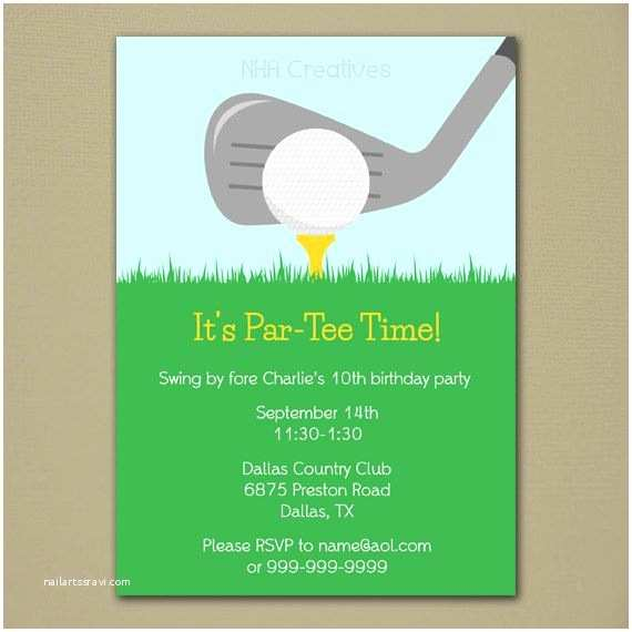 Golf Party Invitation Golf Party Invitation Personalized Diy Printable Digital