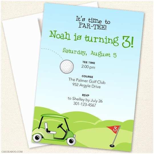 Golf Party Invitation Golf Party Invitations