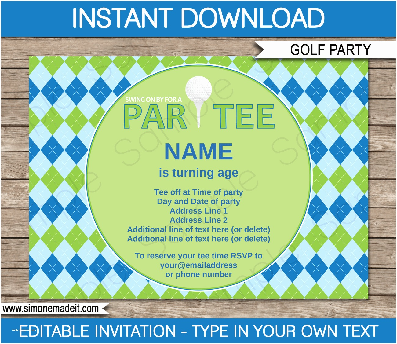 Golf Party Invitation Golf Party Invitations Template