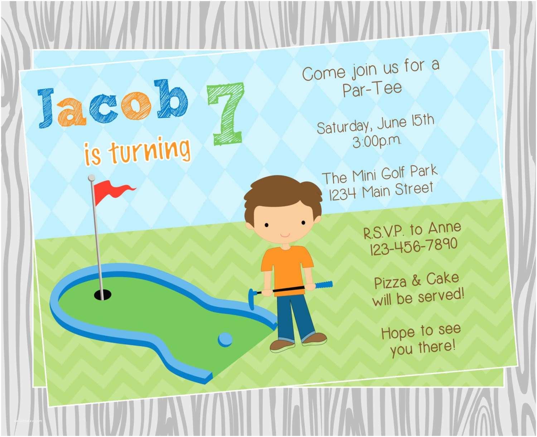 Golf Party Invitation Golf themed Birthday Invitations Ideas – Bagvania Free