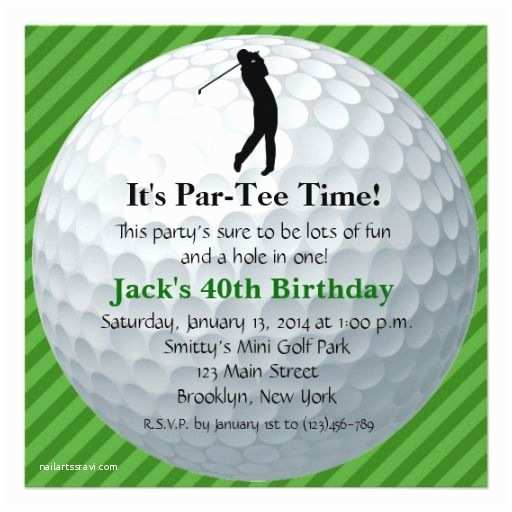 Golf Party Invitation Invitations