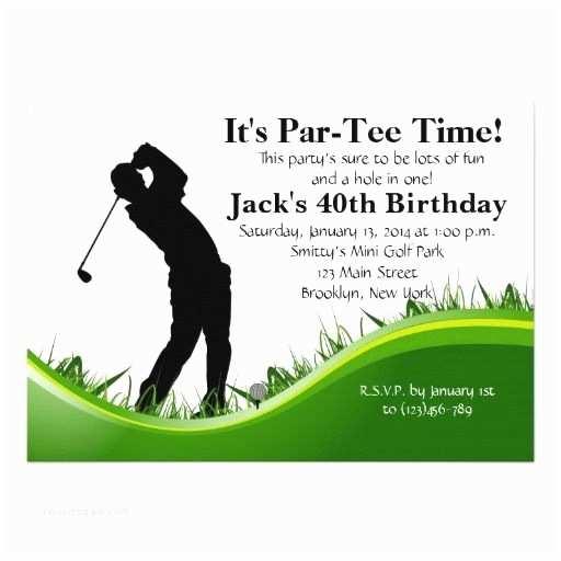 Golf Party Invitation Man Golf Birthday Invitation