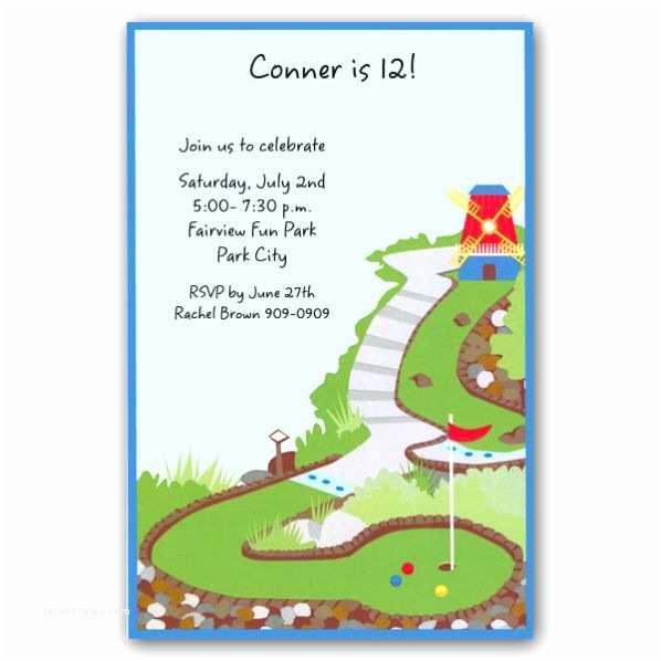 Golf Party Invitation Mini Golf Birthday Invitations Clearance
