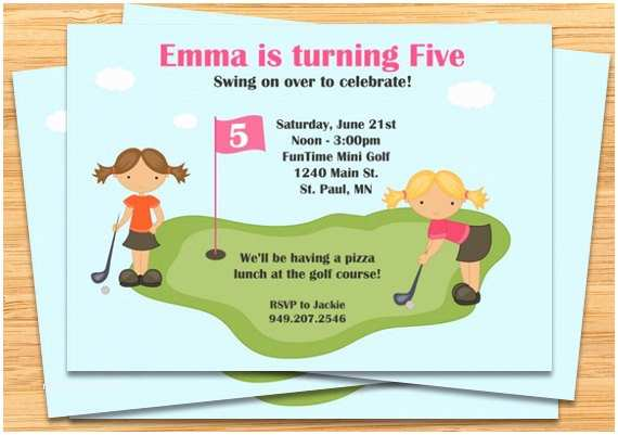 Golf Party Invitation Mini Birthday Invitations