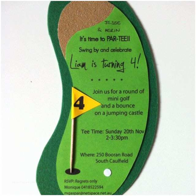 "Golf Party Invitation Mini Golf Party Invitation ""it S Time to Par Tee Landon"