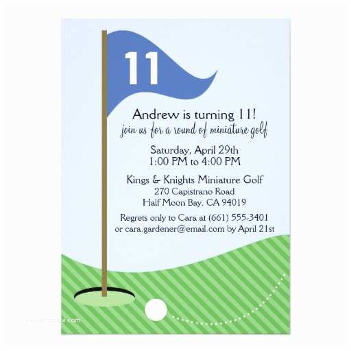Golf Party Invitation Personalized Mini Golf Invitations