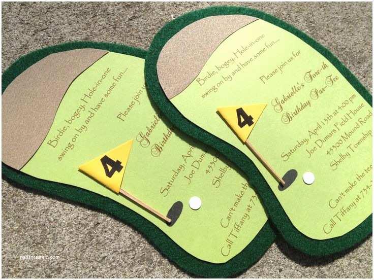 Golf Party Invitation Pinterest