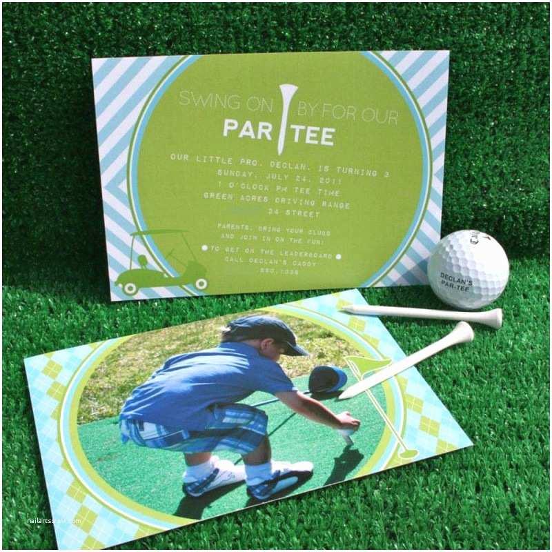 Golf Party Invitation Preppy Golf Birthday Party Printable Invitation