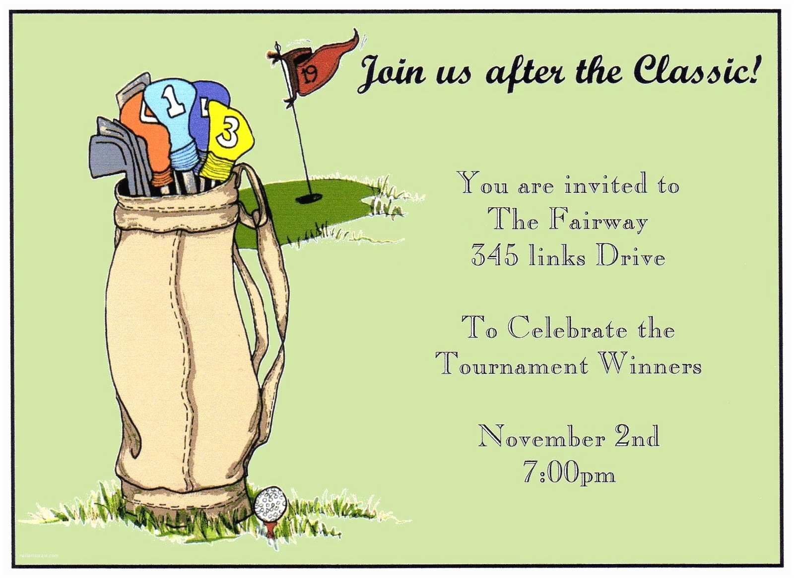 Golf Party Invitation You Re Invited Golf Party Invitation