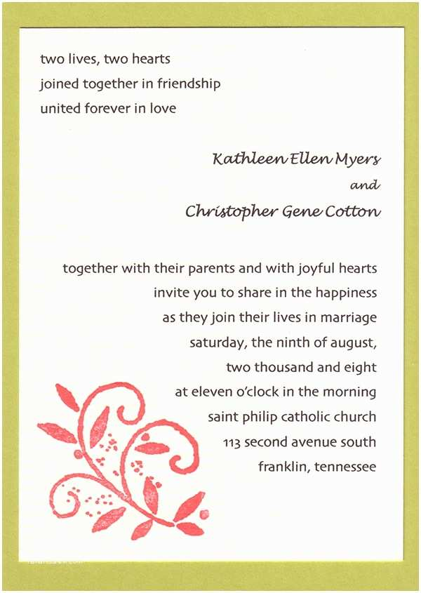 20 Por Wedding Invitation
