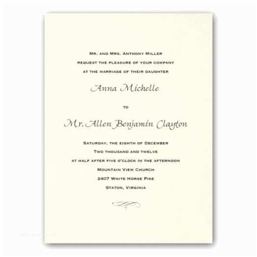 Good Wedding Invitation Wording Traditional Wedding Invitation Wording Examples