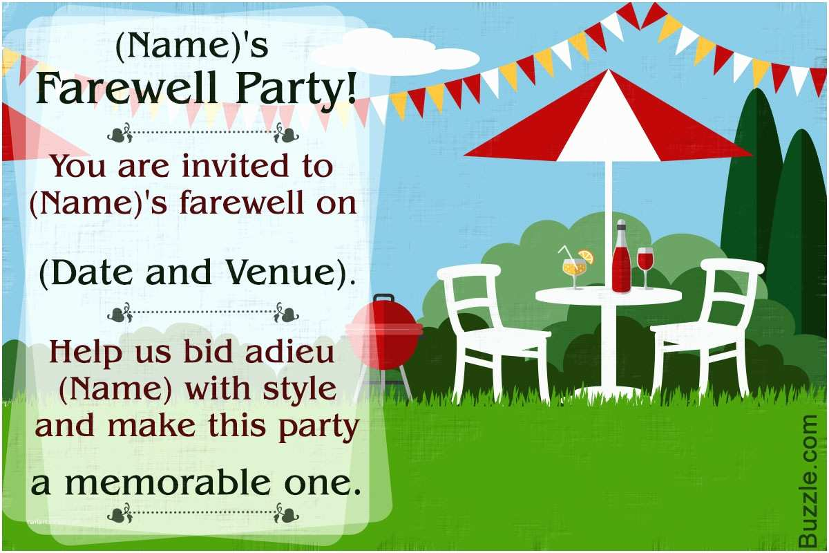 Goodbye Party Invitation 10 Farewell Party Invitation Wordings to Bid Goodbye In Style