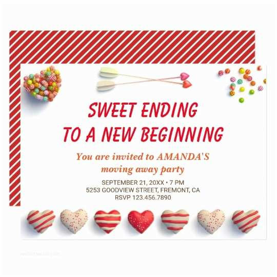Goodbye Party Invitation Cute Colorful Can S Farewell Party Invitation