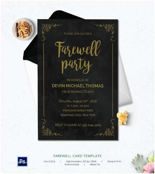 Goodbye Party Invitation Farewell Invitation Cards