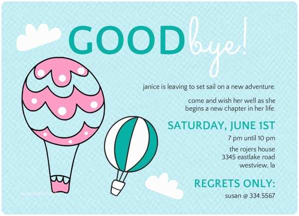 Goodbye Party Invitation Farewell Party Invitation