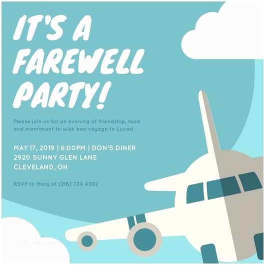Goodbye Party Invitation Goodbye Party Invitation Farewell Party Invitation In