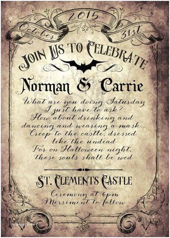 Gothic Wedding Invitations 17 Best Ideas About Victorian Halloween On Pinterest