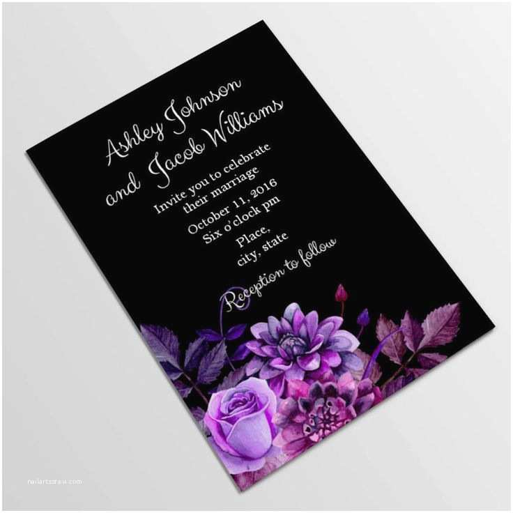 Gothic Wedding Invitations Best 25 Purple Wedding Invitations Ideas On Pinterest
