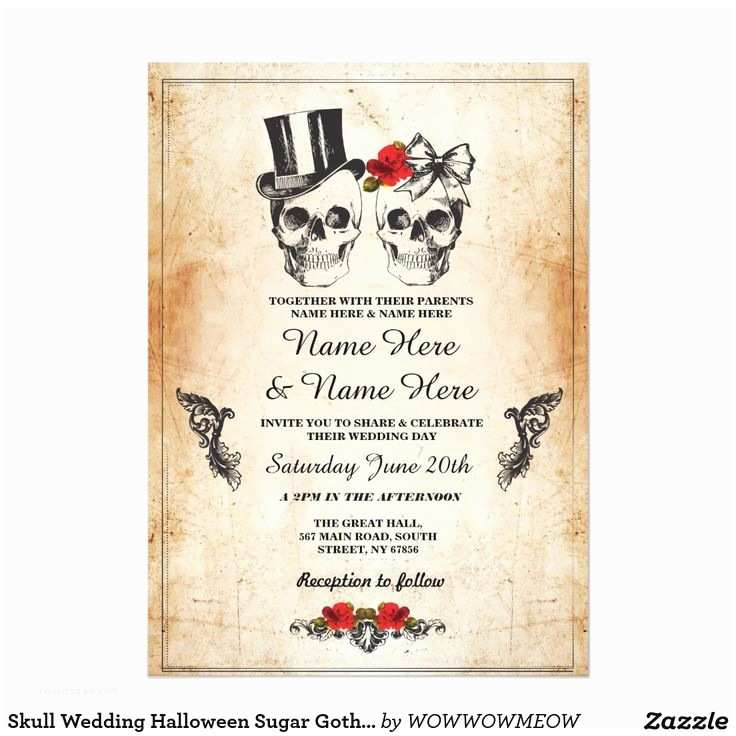 Gothic Wedding Invitations Best 25 Skull Wedding Ideas On Pinterest