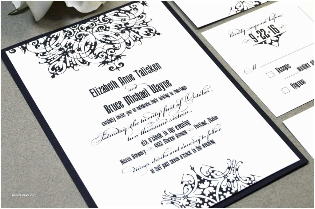Gothic Wedding Invitations Dark and Debonair Invitations for Gothic Weddings