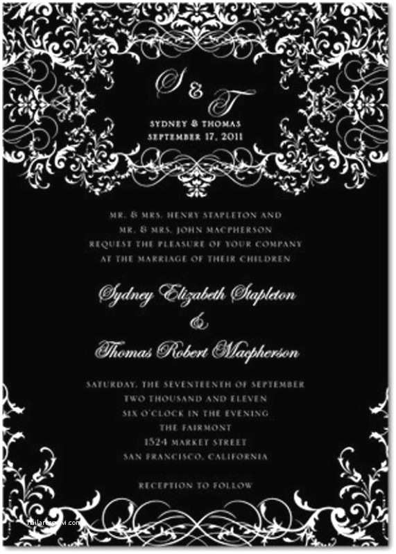 Gothic Wedding Invitations Goes Wedding Stylish Gothic Wedding Invitation Design