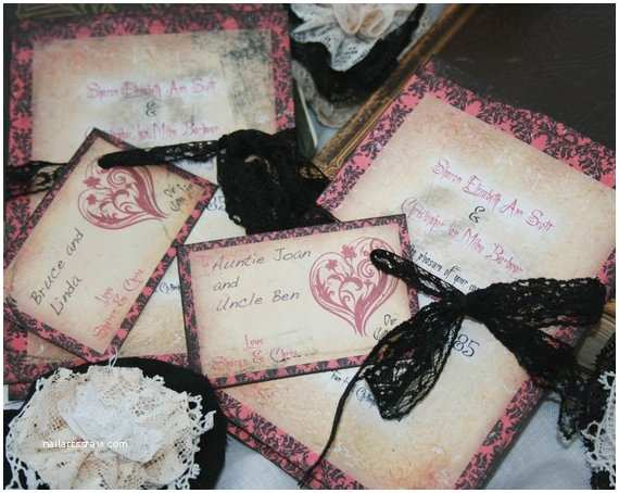 Gothic Wedding Invitations Gothic Wedding Invitations Vintage Gothic by